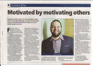 Motivated By Motivating Others Article Clipping In The Sunday Tribune