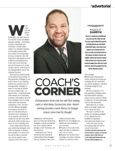 Coach's Corner Feature In The Crest Magazine