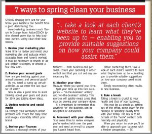 7 Ways To Spring Clean Your Business Article In The Witness