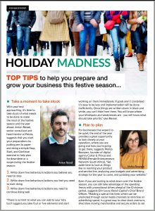 Top Tips To Help You Prepare And Grow Your Business This Festive Season Article Clipping