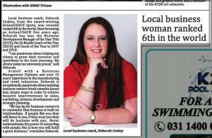 Local Business Woman Ranked 6th In The World Article Feature In The Bugle